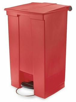 Rubbermaid RED Commercial Plastic 23 Gallon Step-On Trash Ca