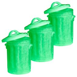 Set of 3 Glow In The Dark Trash Cans for WWE Wrestling Actio