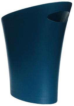Umbra Skinny Trash Can Lagoon Blue Small Garbage Can Modern