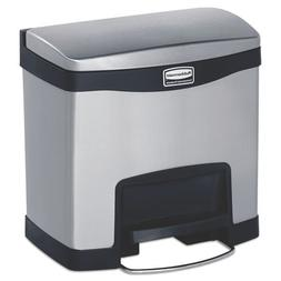 Rubbermaid Slim Jim Stainless Steel Step-On Containers - Fro