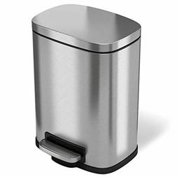 iTouchless SoftStep 1.32 Gallon Bathroom Stainless Steel Ste