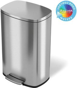 iTouchless SoftStep 13.2 Gallon Stainless Steel Step Trash C