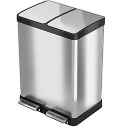 iTouchless SoftStep 16 Gallon Recycle Bin 61 Liter Trash Can