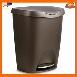 Stainless Steel Can Trash 13 Gallon Kitchen With Lid Step Fr