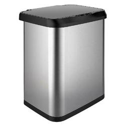 Stainless Steel Sensor Trash Can with Clorox Odor Protection