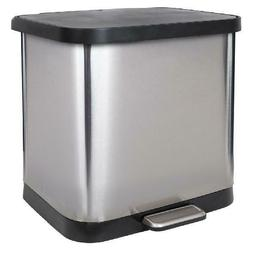 Stainless Steel Step Trash Can with Clorox Odor Protection o