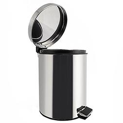 Stainless Steel Touchless Trash Can with Lid Bathroom