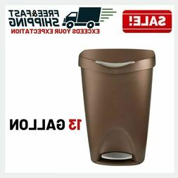 Trash Can Kitchen Garbage Free Touch Bin Stainless Steel Foo