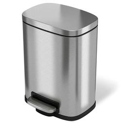 Stainless Steel Trash Garbage Gallon Silver Pedal Home Kitch