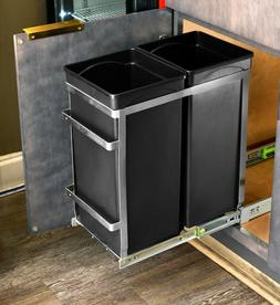 steel double pull out under counter trash