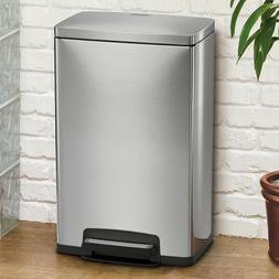 Step Trash Can For Kitchen Stainless Steel 13 Gallon Garbage