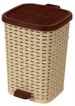 Superio Step-On Trash Can, Wicker Look, 6 Qt.