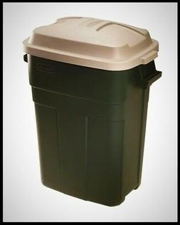 Rubbermaid Roughneck Trash Container 30 Gal Rectangular Plas