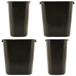 Trash Can 7 Gal Waste Garbage Home Office Black Rectangular