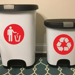 Trash Can Classification Sign Bin And General Waste Logo Vin