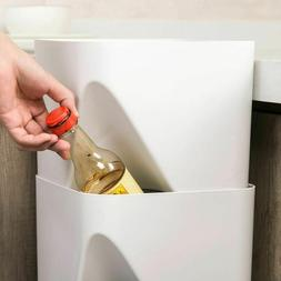 Trash Can for Kitchen Plastic Stacking Trash Bins for Sortin