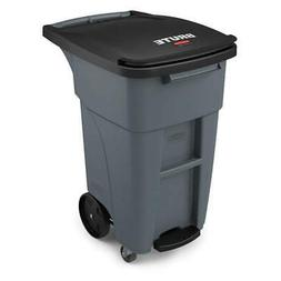 RUBBERMAID Trash Can,Free-Standing,Roll Out,32 gal., 1971950