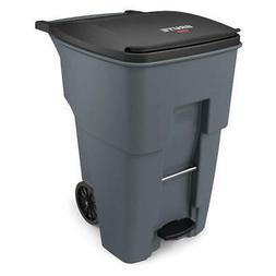 RUBBERMAID Trash Can,Free-Standing,Roll Out,95 gal., 1971991