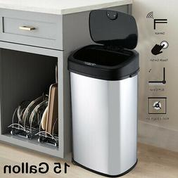 Trash Cans For Kitchen Garbage Can W/ Lid Automatic Touchles