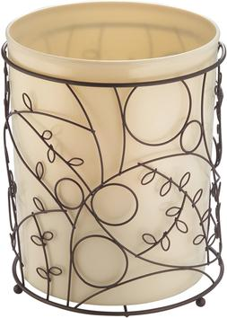 iDesign Twigz Metal Wire and Plastic Wastebasket Trash Can G