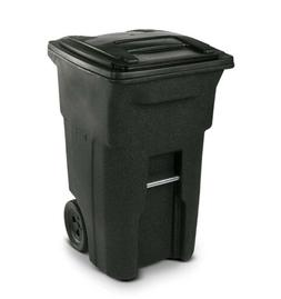 Wheeled Trash Can Curb Outdoor Waste Garbage Bin Lid 64 Gall