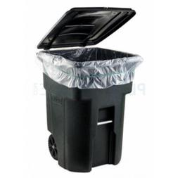 WHEELED TRASH CAN LID GARBAGE CONTAINER OUTDOOR WASTE BIN BA